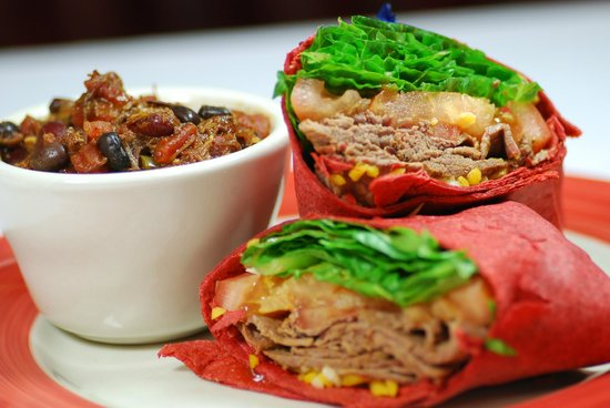 The Prime Smokehouse Barbecue & Beyond: Cup of Chili and BBQ Brisket Wrap