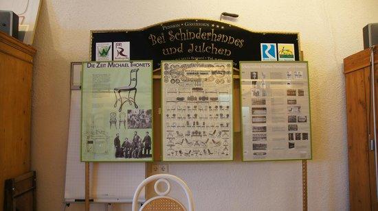 Pension bei Schinderhannes und Julchen: There were information about famous chair maker Michael Thonet