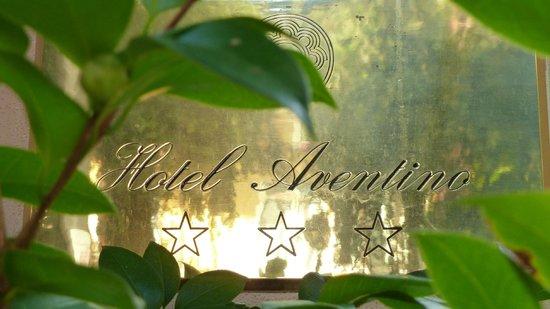 Hotel Aventino: Hotel plaque