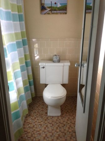 Cape Colony Inn: Toilet and shower separate from sink area; very convenient
