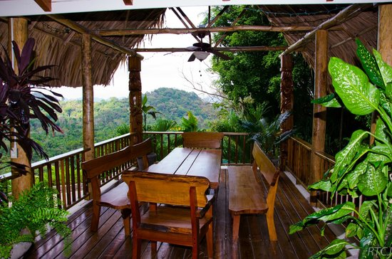 Copal Tree Lodge, a Muy'Ono Resort: Front porch of the hotel
