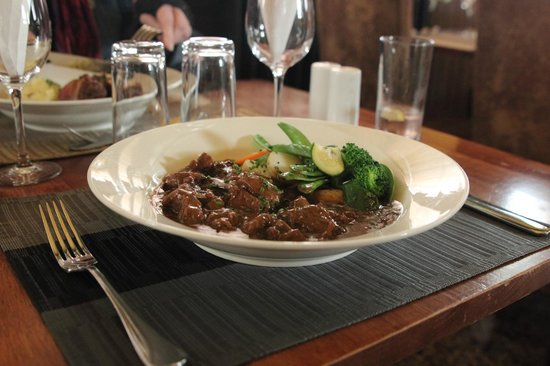 The Waterloo Hotel and Bistro: Beef, mushroom and stilton casserole