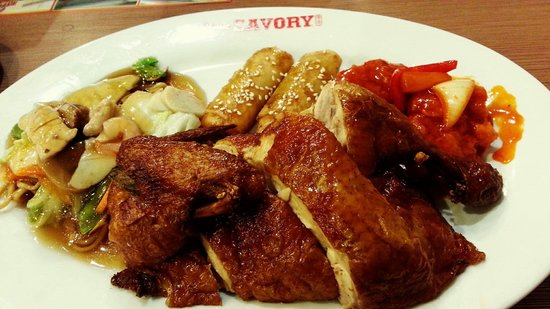 Savory Chicken: Combo meal