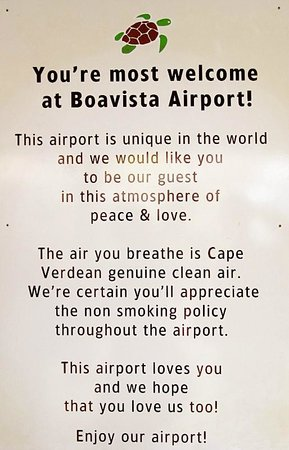 Migrante Guesthouse: Sign at the airport that says it all :)