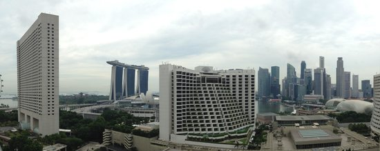 Pan Pacific Singapore: view from our room at level 16