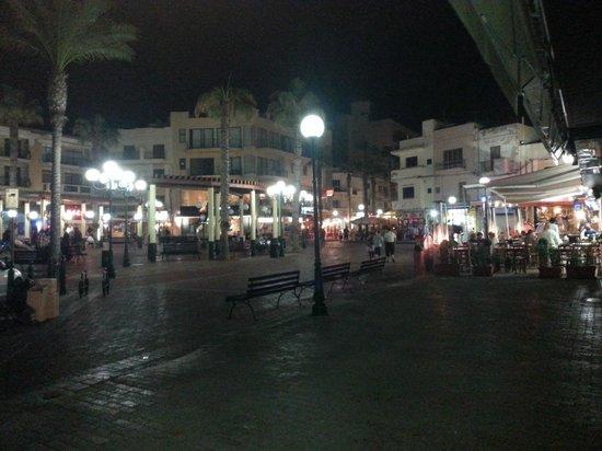 The San Anton Hotel: Bugibba Square @ night
