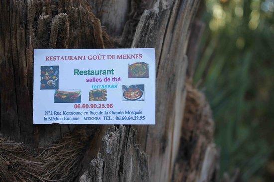 Restaurant Gout de Meknes: The business card of the restaurant