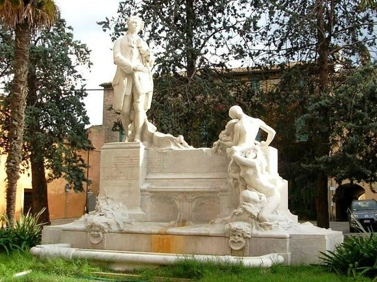 Jesi, Italien: Monumento a Giovanni Battista Pergolesi