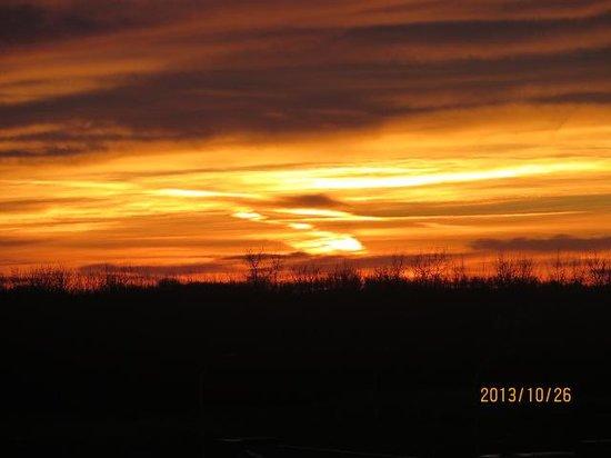 BEST WESTERN Sunrise Inn & Suites : Beautiful Alberta sunrise as seen from bed.