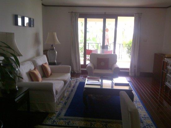 Saigon Domaine Luxury Residences: Living Room leading to Balcony