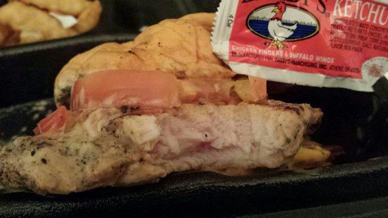 "Zaxby's: My ""uncooked"" chicken sandwich."