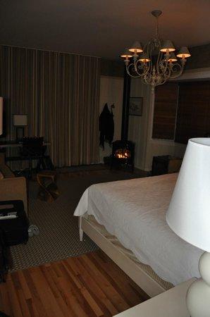 Manoir Hovey: vue de lit et de la chambre