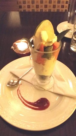 The Indigo Restaurant at The Ardington Hotel: Low carb desert the chef did for me. THANKS!
