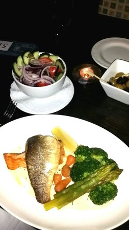 The Indigo Restaurant at The Ardington Hotel: Low carb vetsion of their duo of fish.