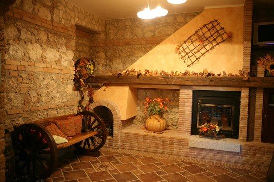 Agriturismo Il Casolare : angolo caminetto