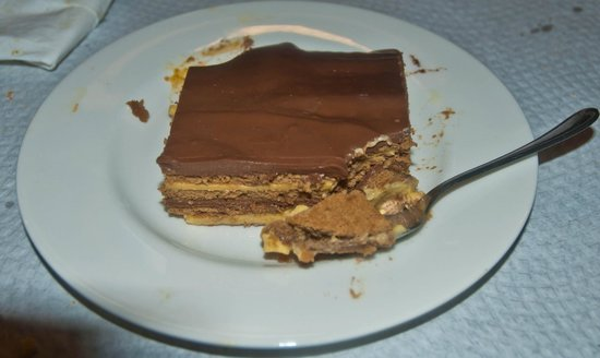 Sidreria El Almacen: Tarta de chocolate