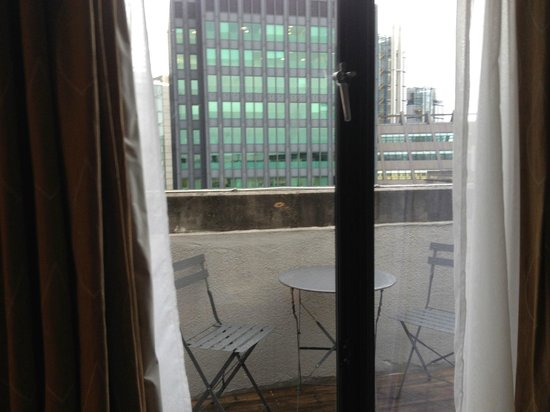 Apex City of London Hotel : This is a 7th floor view with balcony.