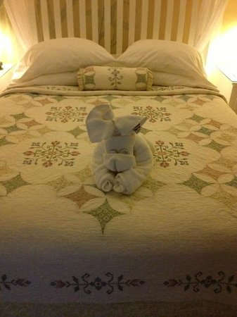 Duval Gardens: Towel animal on last night