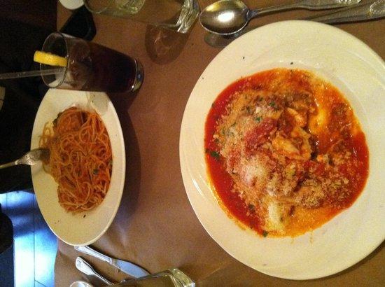 Da Nico: Spaghetti with meatballs, and Lasagna