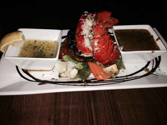 Keys Dining: 6oz beef tenderloin with lobster tail!