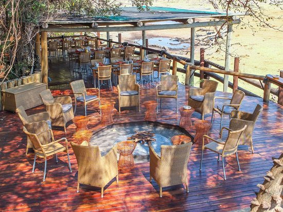 Savute Safari Lodge: Dining and Evening Gathering Areas
