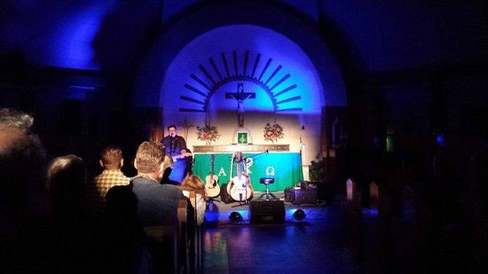 Grey Gritt performing at the Igloo Church.