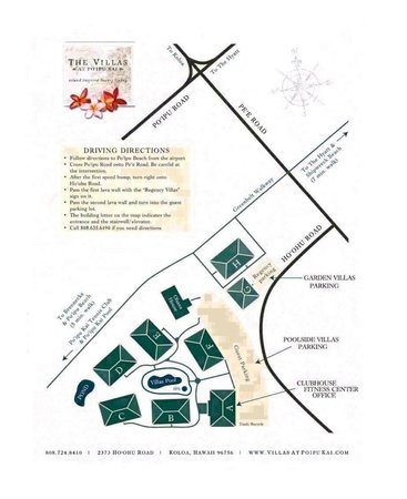 The Villas at Poipu Kai: Villas At Poipu Kai map