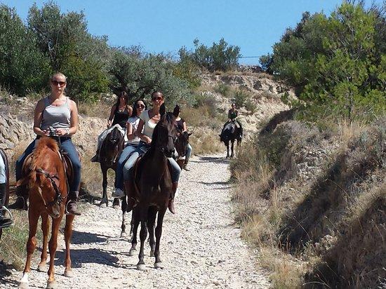 Finestrat, Spain: Rutas a caballo