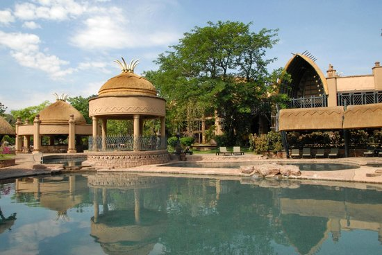The Kingdom at Victoria Falls: not a bad spot to sit in a cabana out of the direct sun & relax
