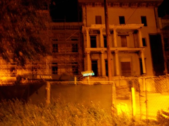 Hearse Ghost Tours: Old mental hospital, after 6 tries, this is the best pic, my camera didn't work right at all!