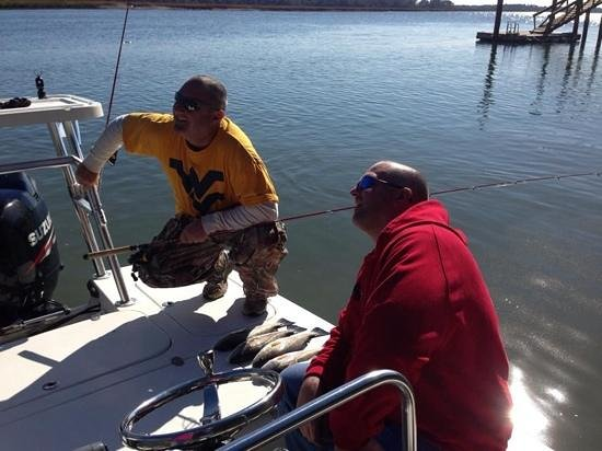 Off The Hook Fishing Charters: Reds and two happy guys