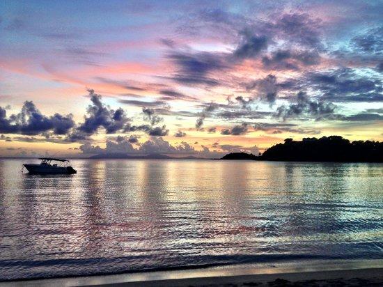 Carlisle Bay Antigua: View of the bay at sunset