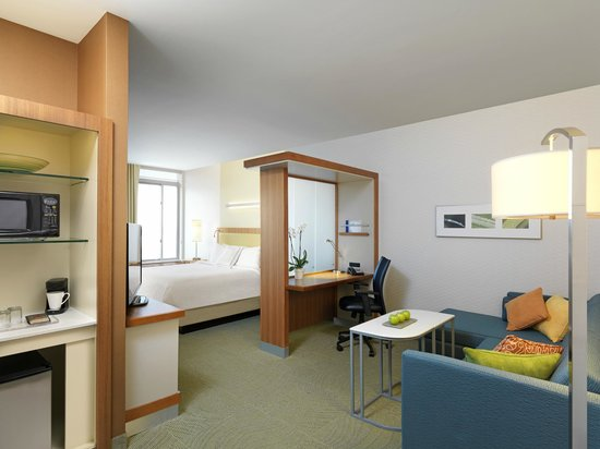 "SpringHill Suites Anaheim Maingate: Spacious suite with 42""HDTV, free WiFi Internet, microwave, and refrigerator."
