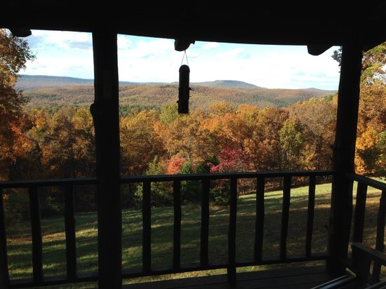 Ozark Mountain Cabins: View from the deck