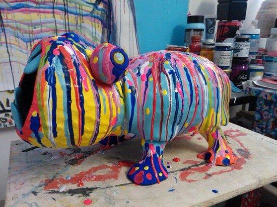 Studio d'Arte Michele Bono: Ippopotamo in ceramica