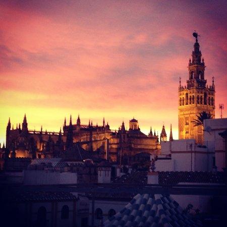 Hotel Boutique Casas de Santa Cruz Sevilla : Vista della Cattedrale dalla terrazza dell'hotel