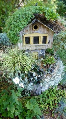 Cambria Pines Lodge: Charming Birdhouse Garden