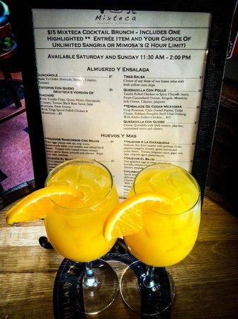 Mixteca Taqueria Y Cantina: Bottomless Mimosa BRUNCH! Sat & Sun at 11:30