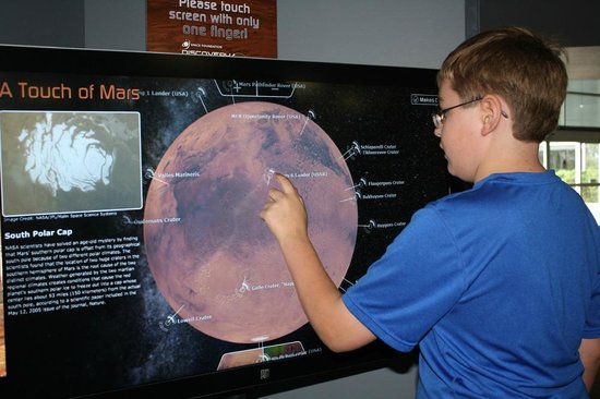 Space Foundation: Touch of Mars interactive display.