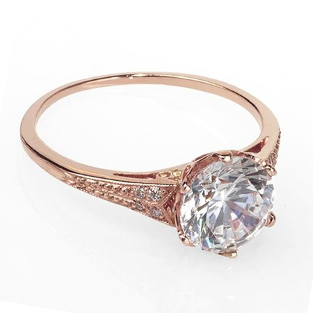 catherine angiel rose gold engagement ring - Wedding Rings Nyc
