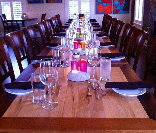 Rhubarb Restaurant: Waiting for our guests to arrive.