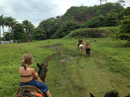 Hotel Tropico Latino: Horseback riding from the hotel.