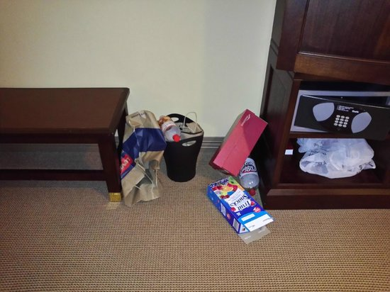 Sheraton Baltimore Washington Airport - BWI: Unexceptable! Trash was not removed for 3 whole days