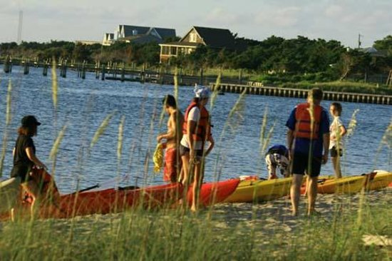 Ride the Wind: Group Kayak Tour stop at Springers Point