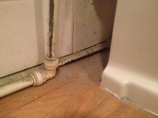 Kings Lodge Hotel: dirty pipes in bathroom