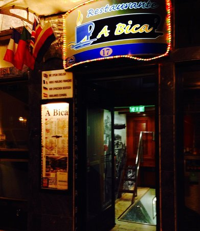 A Bica : Looks can be deceiving .... This entrance does no justice to the kitchen.