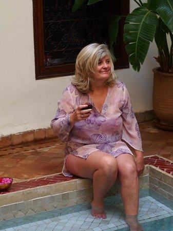 Darhani: Enjoying a dip in the plunge pool
