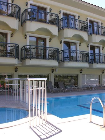 Dalyan Tezcan Hotel: View of room from the pool