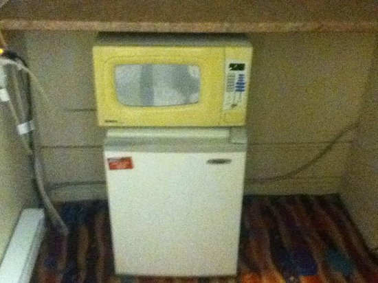 Bestway Motel: Fridge and Microwave