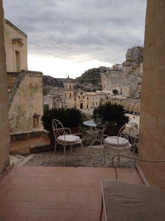 Hotel La Casa di Lucio: partial view from the restaurant balcony